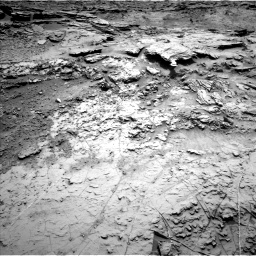 Nasa's Mars rover Curiosity acquired this image using its Left Navigation Camera on Sol 1369, at drive 2472, site number 54