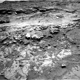 Nasa's Mars rover Curiosity acquired this image using its Left Navigation Camera on Sol 1369, at drive 2490, site number 54