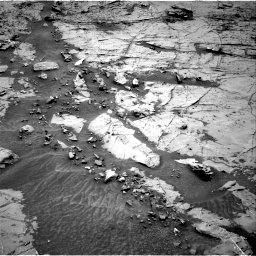 Nasa's Mars rover Curiosity acquired this image using its Right Navigation Camera on Sol 1369, at drive 2322, site number 54