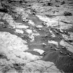 Nasa's Mars rover Curiosity acquired this image using its Right Navigation Camera on Sol 1369, at drive 2334, site number 54