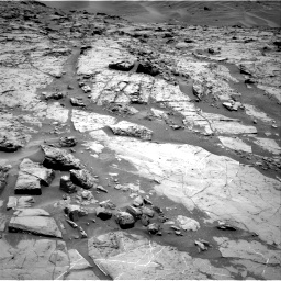 Nasa's Mars rover Curiosity acquired this image using its Right Navigation Camera on Sol 1369, at drive 2346, site number 54