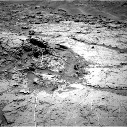 Nasa's Mars rover Curiosity acquired this image using its Right Navigation Camera on Sol 1369, at drive 2388, site number 54