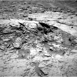 Nasa's Mars rover Curiosity acquired this image using its Right Navigation Camera on Sol 1369, at drive 2394, site number 54