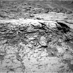 Nasa's Mars rover Curiosity acquired this image using its Right Navigation Camera on Sol 1369, at drive 2400, site number 54