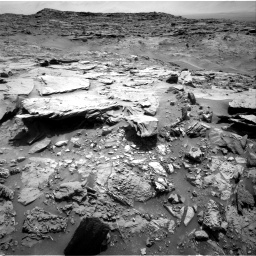 Nasa's Mars rover Curiosity acquired this image using its Right Navigation Camera on Sol 1369, at drive 2442, site number 54