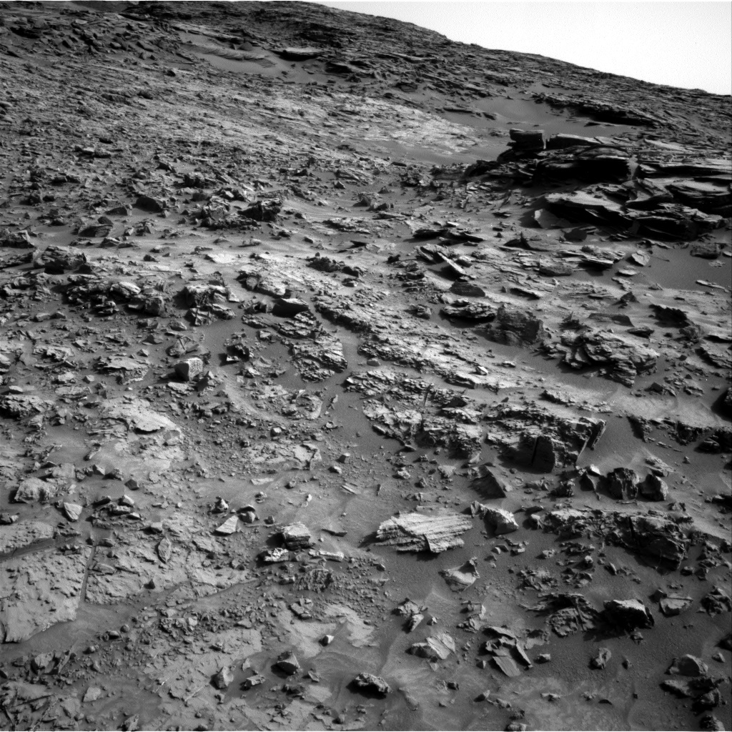 NASA's Mars rover Curiosity acquired this image using its Right Navigation Cameras (Navcams) on Sol 1369
