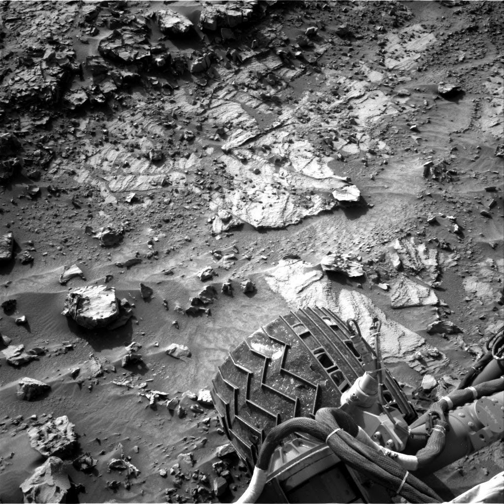 Nasa's Mars rover Curiosity acquired this image using its Right Navigation Camera on Sol 1369, at drive 2508, site number 54