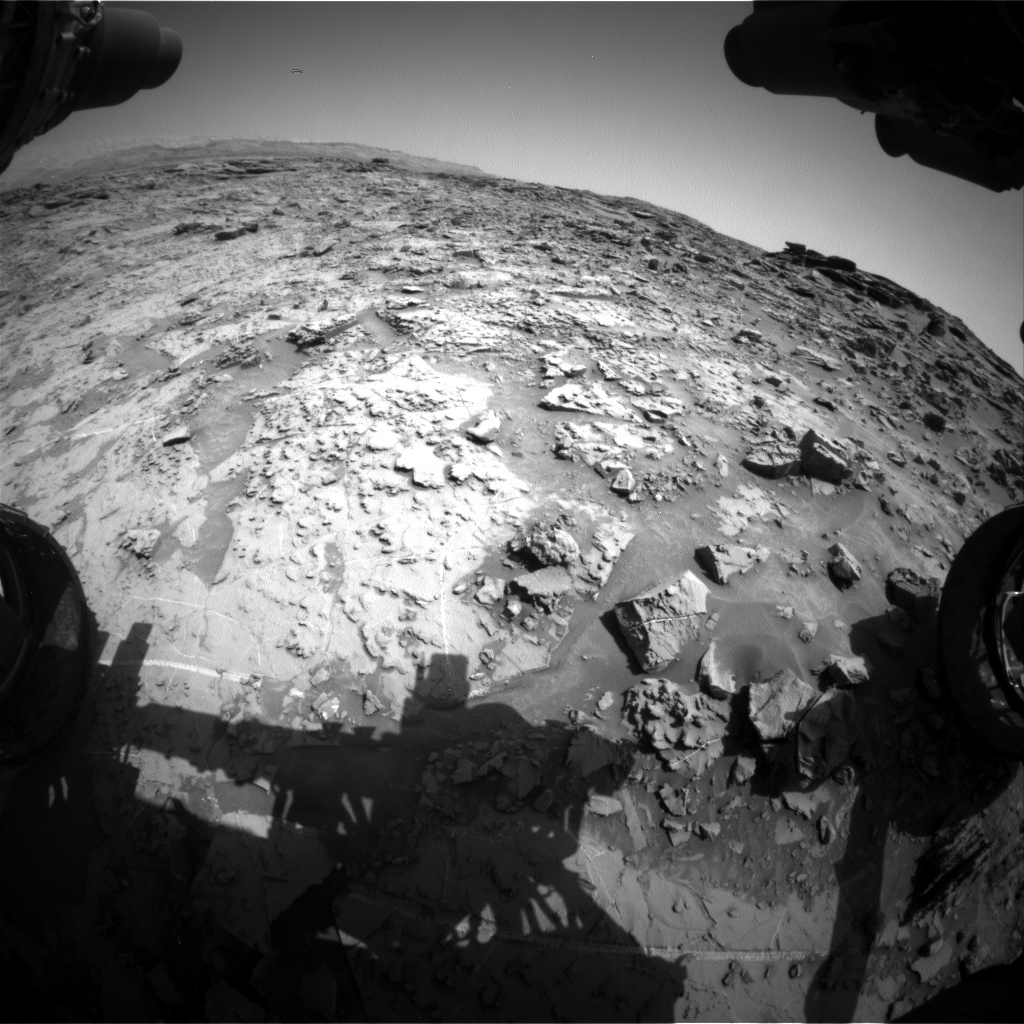 Nasa's Mars rover Curiosity acquired this image using its Front Hazard Avoidance Camera (Front Hazcam) on Sol 1370, at drive 2508, site number 54