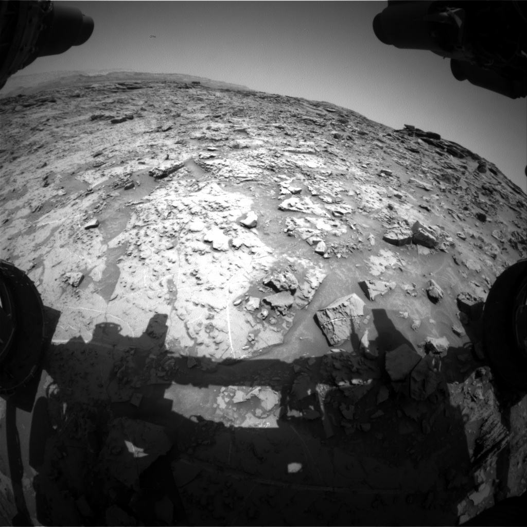 Nasa's Mars rover Curiosity acquired this image using its Front Hazard Avoidance Camera (Front Hazcam) on Sol 1371, at drive 2508, site number 54