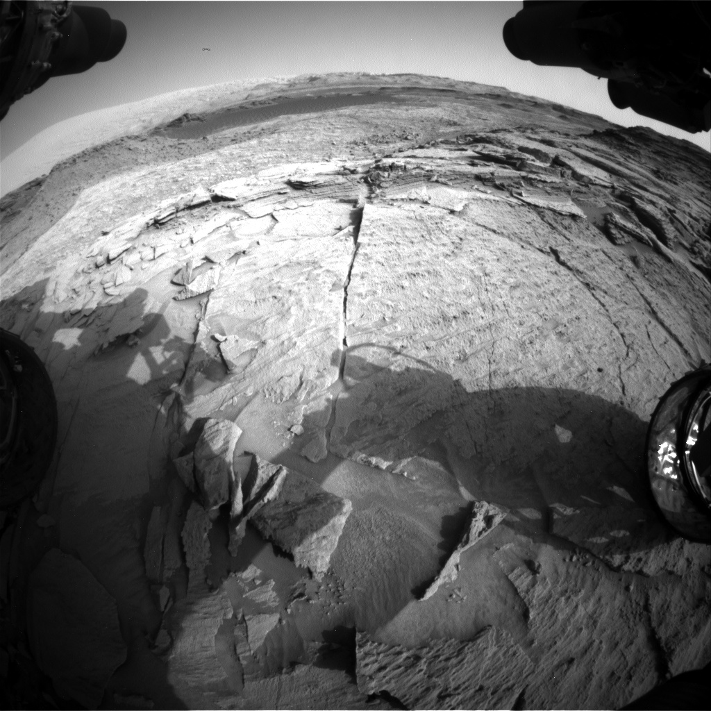 Nasa's Mars rover Curiosity acquired this image using its Front Hazard Avoidance Camera (Front Hazcam) on Sol 1371, at drive 2784, site number 54