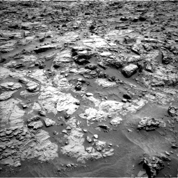 Nasa's Mars rover Curiosity acquired this image using its Left Navigation Camera on Sol 1371, at drive 2592, site number 54