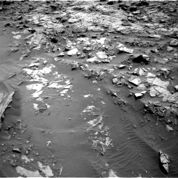 Nasa's Mars rover Curiosity acquired this image using its Right Navigation Camera on Sol 1371, at drive 2676, site number 54