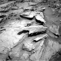 Nasa's Mars rover Curiosity acquired this image using its Right Navigation Camera on Sol 1371, at drive 2700, site number 54
