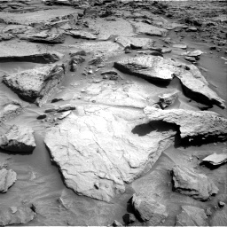 Nasa's Mars rover Curiosity acquired this image using its Right Navigation Camera on Sol 1371, at drive 2706, site number 54
