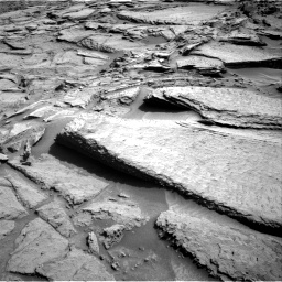 Nasa's Mars rover Curiosity acquired this image using its Right Navigation Camera on Sol 1371, at drive 2736, site number 54