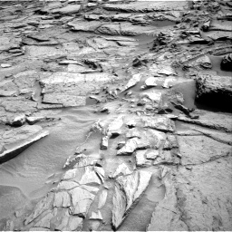 Nasa's Mars rover Curiosity acquired this image using its Right Navigation Camera on Sol 1371, at drive 2766, site number 54