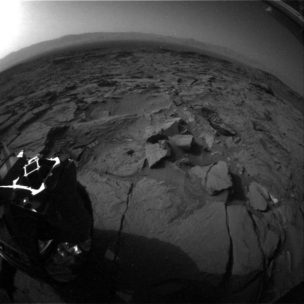 NASA's Mars rover Curiosity acquired this image using its Rear Hazard Avoidance Cameras (Rear Hazcams) on Sol 1371