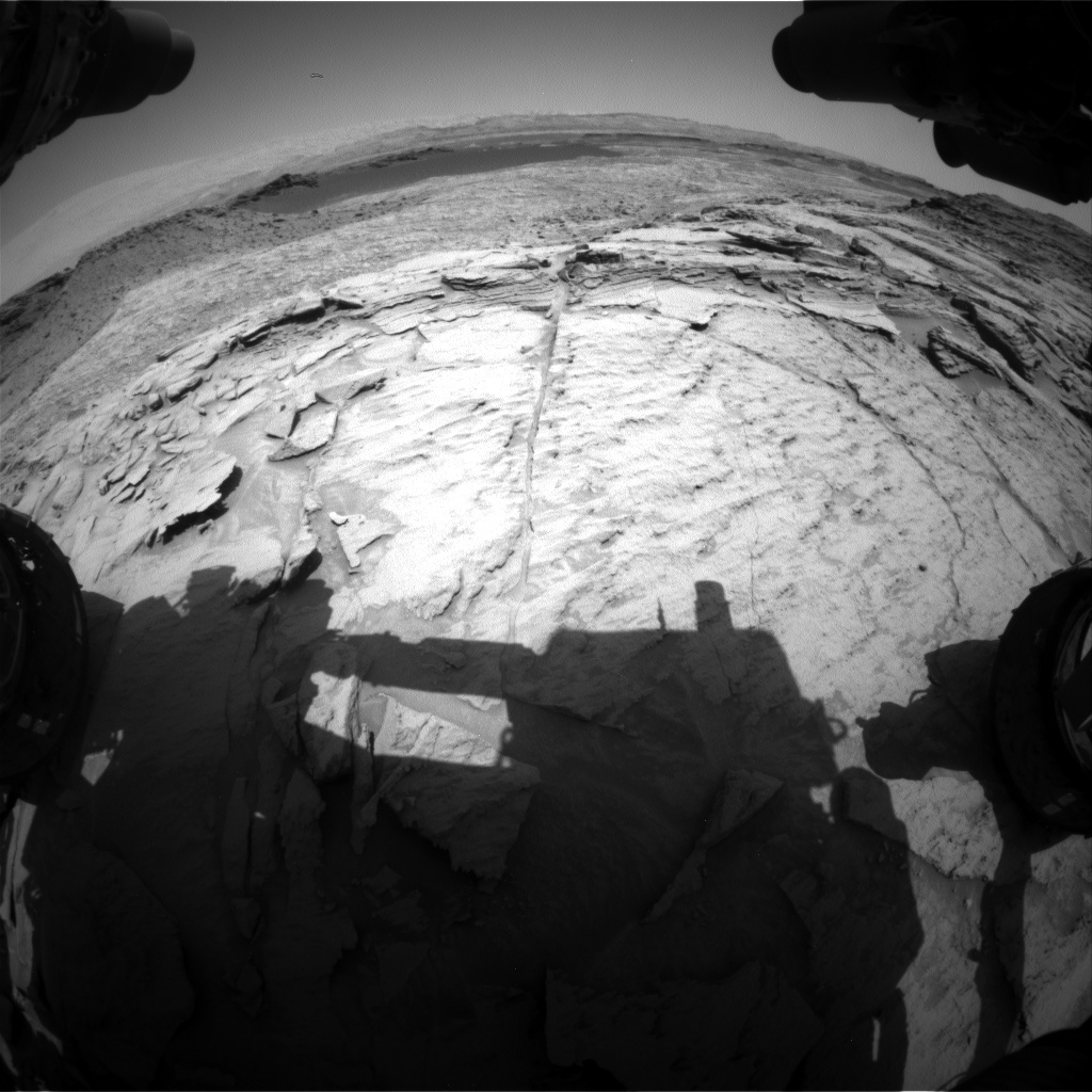 Nasa's Mars rover Curiosity acquired this image using its Front Hazard Avoidance Camera (Front Hazcam) on Sol 1373, at drive 2784, site number 54