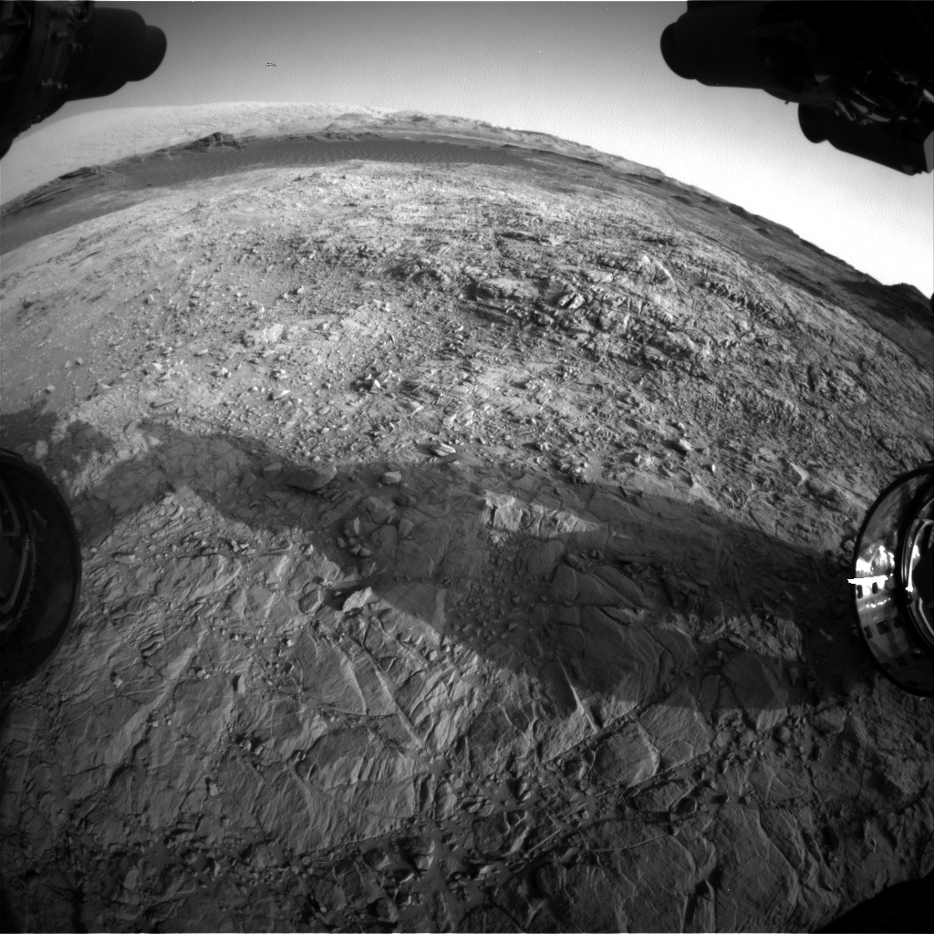 Nasa's Mars rover Curiosity acquired this image using its Front Hazard Avoidance Camera (Front Hazcam) on Sol 1373, at drive 3036, site number 54