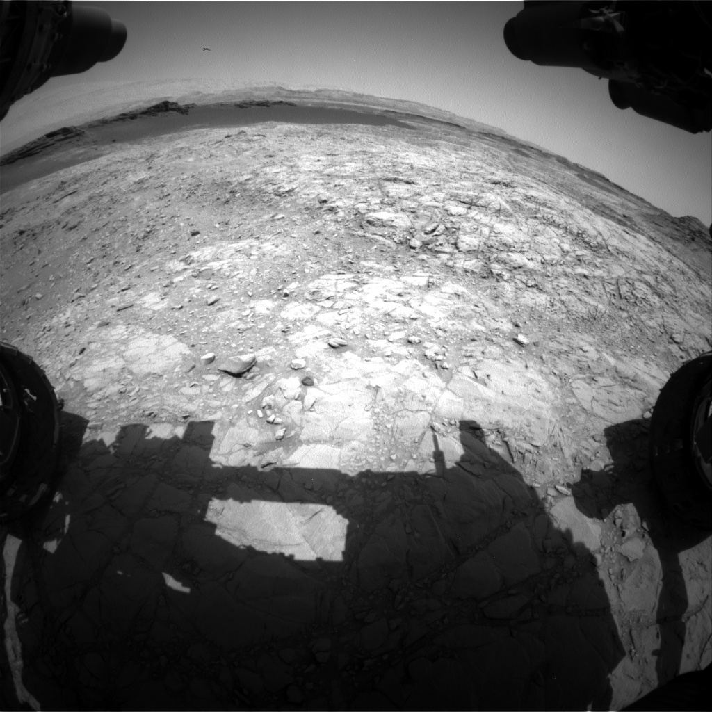 Nasa's Mars rover Curiosity acquired this image using its Front Hazard Avoidance Camera (Front Hazcam) on Sol 1374, at drive 3036, site number 54