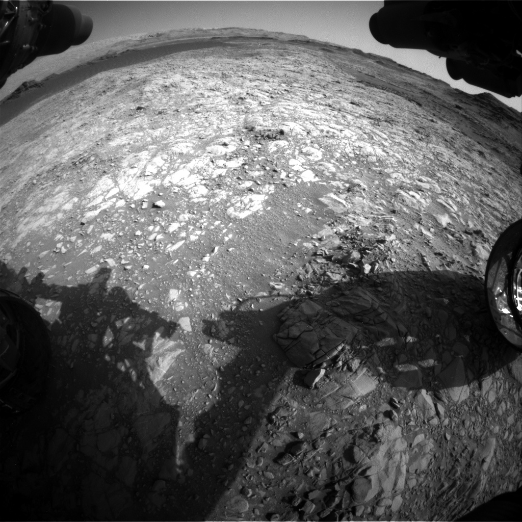 Nasa's Mars rover Curiosity acquired this image using its Front Hazard Avoidance Camera (Front Hazcam) on Sol 1376, at drive 0, site number 55