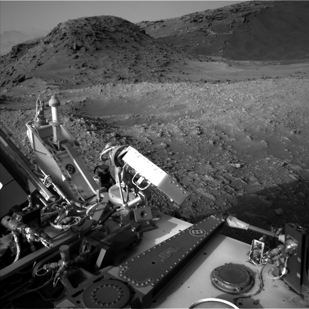 Nasa's Mars rover Curiosity acquired this image using its Left Navigation Camera on Sol 1376, at drive 0, site number 55