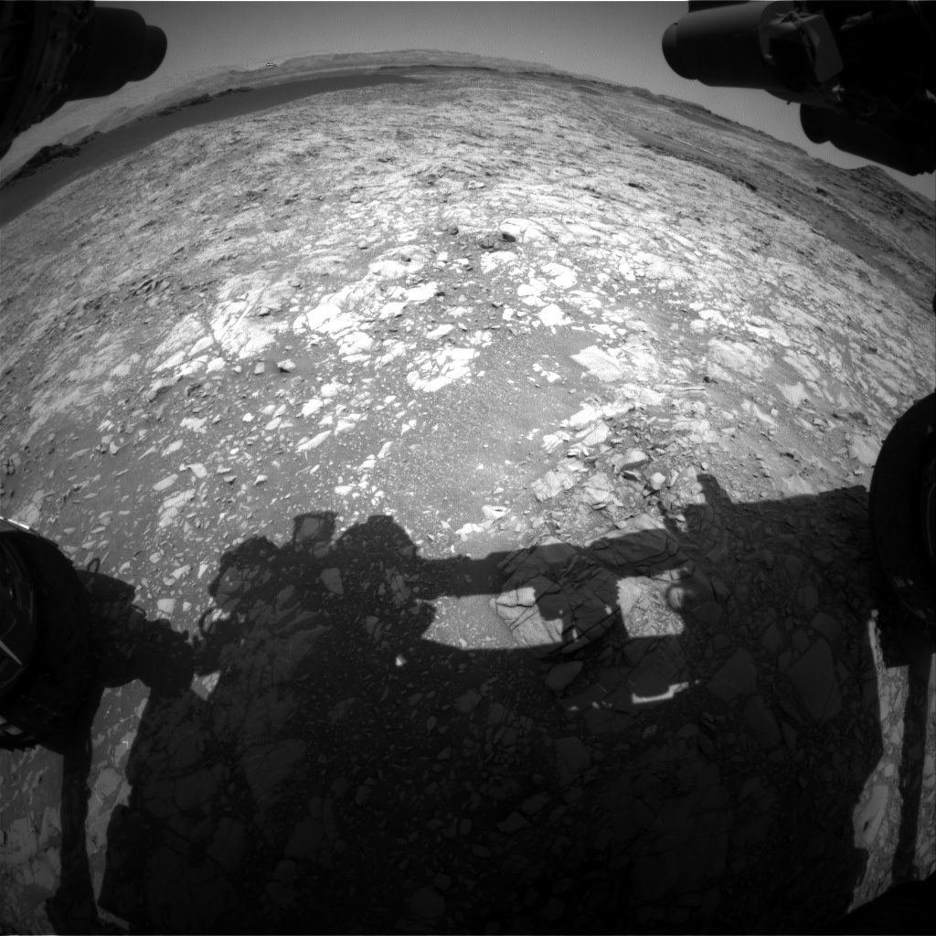 Nasa's Mars rover Curiosity acquired this image using its Front Hazard Avoidance Camera (Front Hazcam) on Sol 1377, at drive 0, site number 55