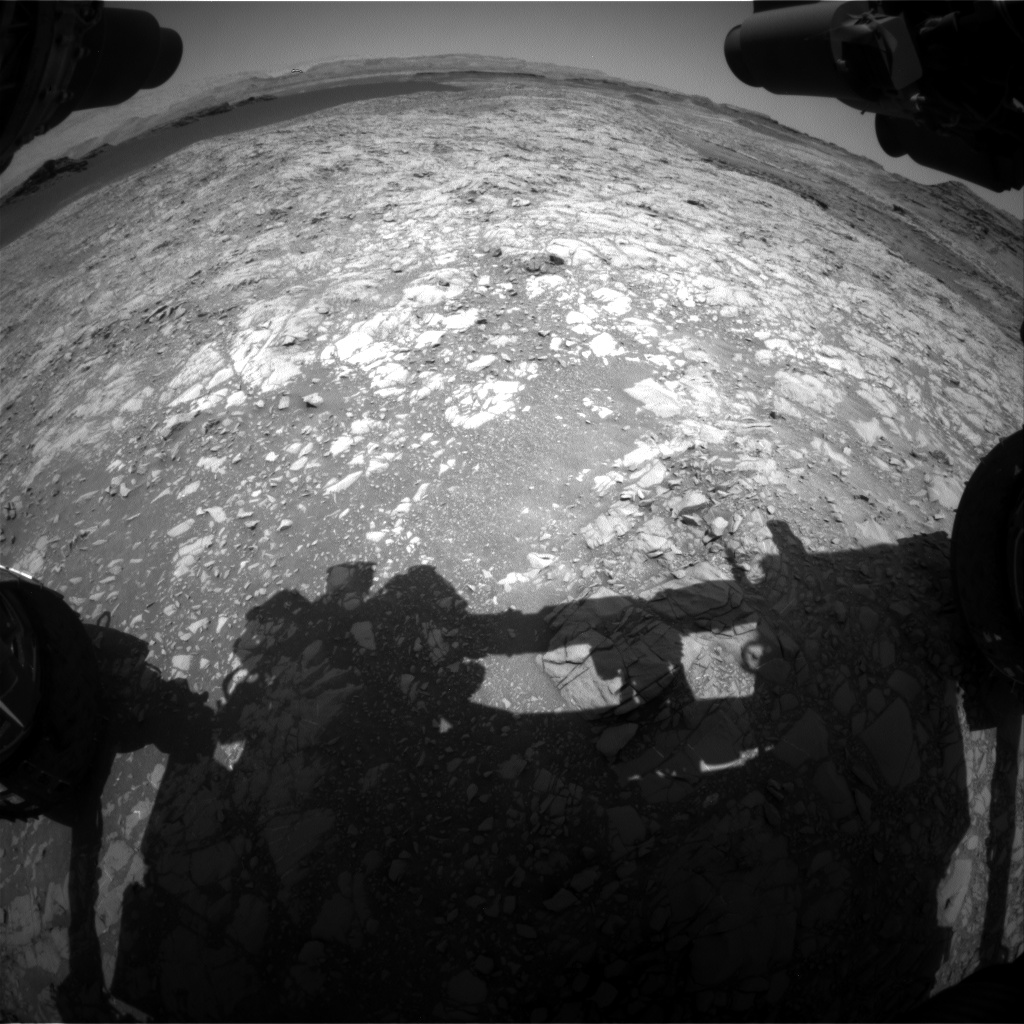 Nasa's Mars rover Curiosity acquired this image using its Front Hazard Avoidance Camera (Front Hazcam) on Sol 1378, at drive 0, site number 55