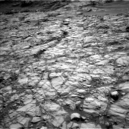 Nasa's Mars rover Curiosity acquired this image using its Left Navigation Camera on Sol 1378, at drive 42, site number 55