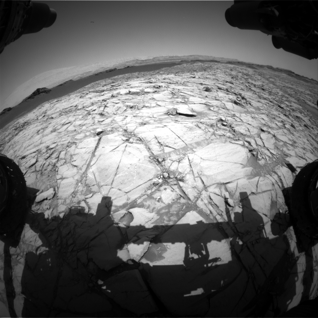 Nasa's Mars rover Curiosity acquired this image using its Front Hazard Avoidance Camera (Front Hazcam) on Sol 1379, at drive 310, site number 55