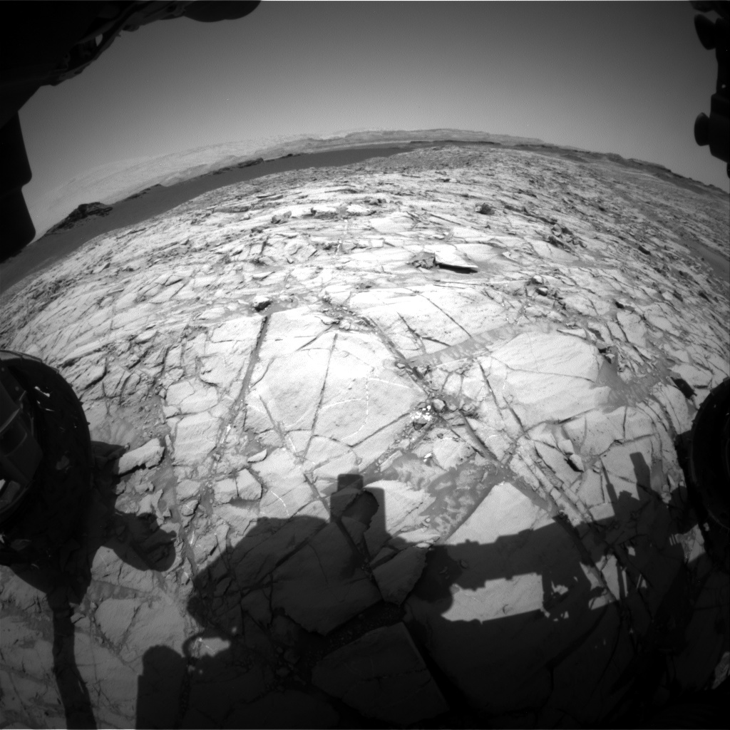 Nasa's Mars rover Curiosity acquired this image using its Front Hazard Avoidance Camera (Front Hazcam) on Sol 1380, at drive 310, site number 55