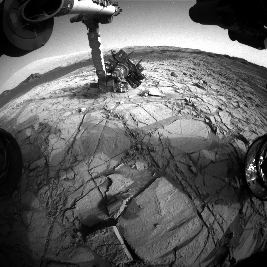 NASA's Mars rover Curiosity acquired this image using its Front Hazard Avoidance Cameras (Front Hazcams) on Sol 1380