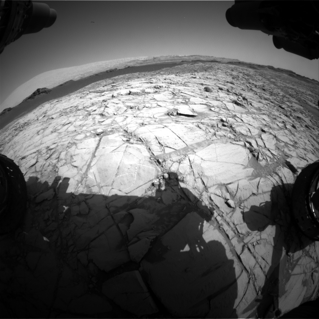 Nasa's Mars rover Curiosity acquired this image using its Front Hazard Avoidance Camera (Front Hazcam) on Sol 1381, at drive 310, site number 55