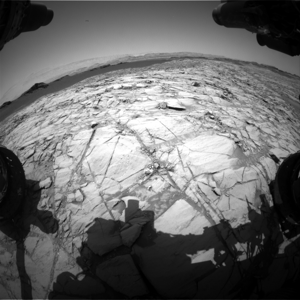 Nasa's Mars rover Curiosity acquired this image using its Front Hazard Avoidance Camera (Front Hazcam) on Sol 1382, at drive 310, site number 55