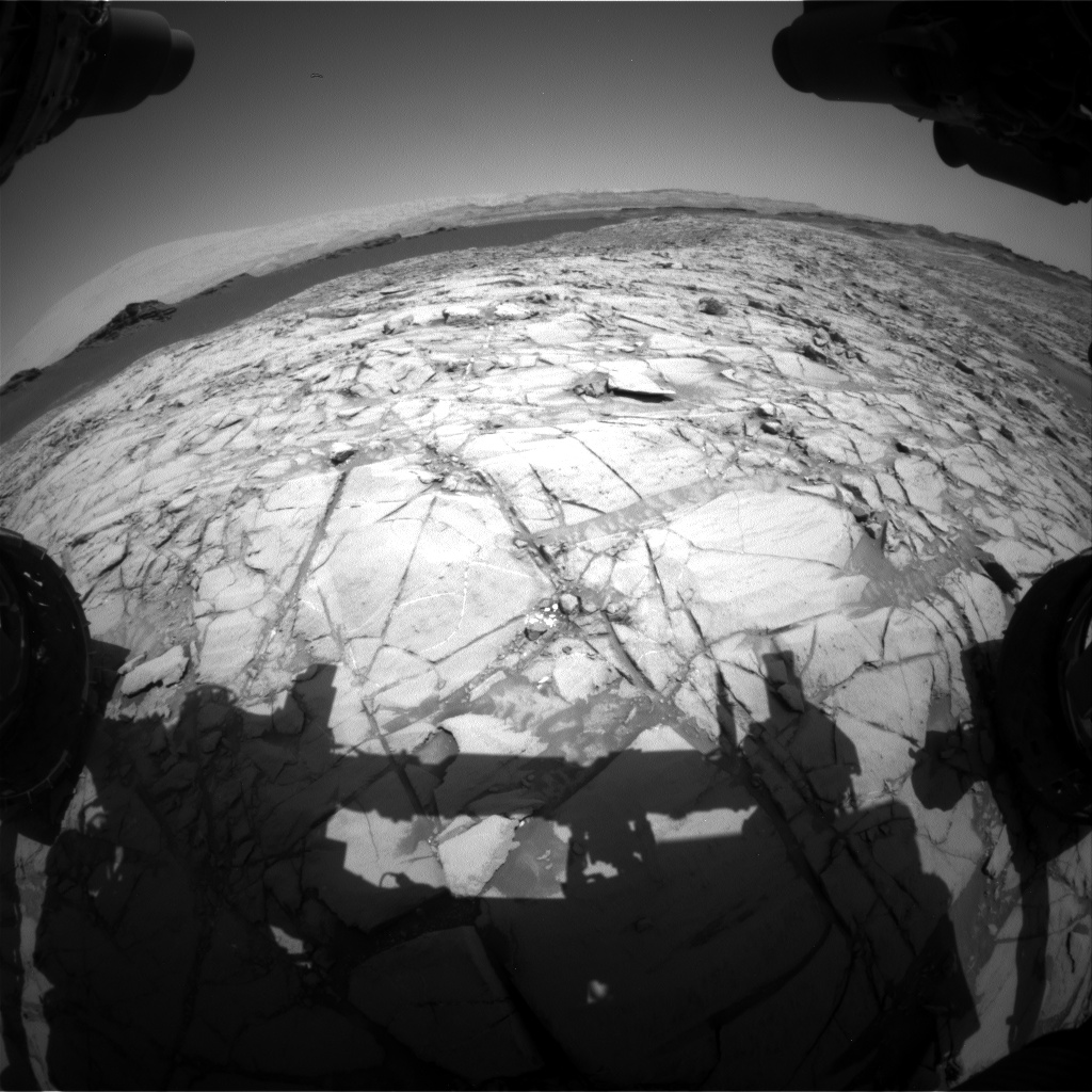Nasa's Mars rover Curiosity acquired this image using its Front Hazard Avoidance Camera (Front Hazcam) on Sol 1383, at drive 310, site number 55