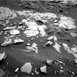 Nasa's Mars rover Curiosity acquired this image using its Left Navigation Camera on Sol 1383, at drive 418, site number 55