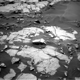 Nasa's Mars rover Curiosity acquired this image using its Left Navigation Camera on Sol 1383, at drive 436, site number 55
