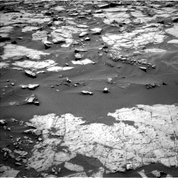 Nasa's Mars rover Curiosity acquired this image using its Left Navigation Camera on Sol 1383, at drive 466, site number 55