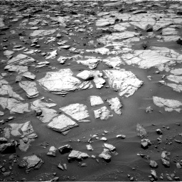 Nasa's Mars rover Curiosity acquired this image using its Left Navigation Camera on Sol 1383, at drive 502, site number 55