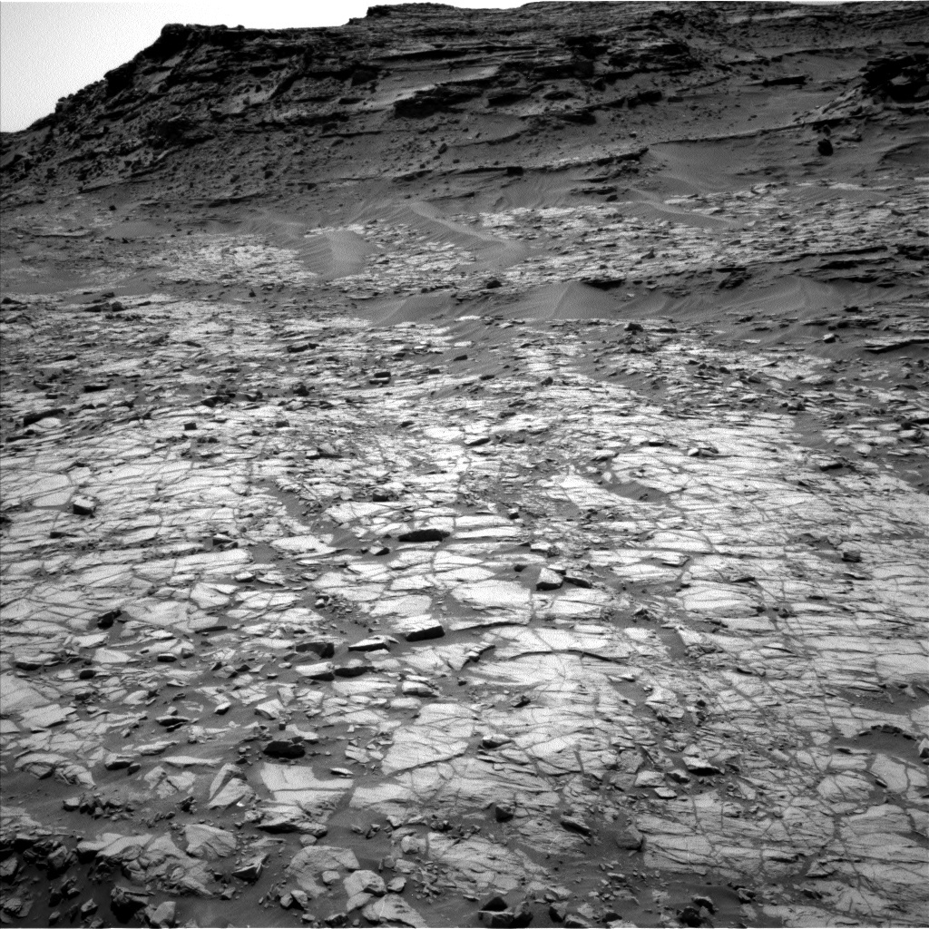 NASA's Mars rover Curiosity acquired this image using its Left Navigation Camera (Navcams) on Sol 1383