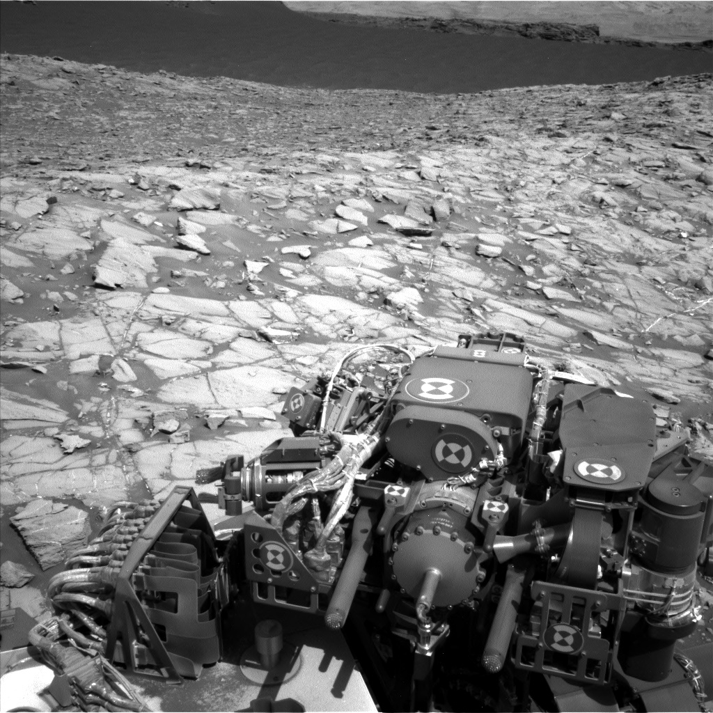 Nasa's Mars rover Curiosity acquired this image using its Left Navigation Camera on Sol 1383, at drive 538, site number 55