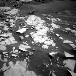 Nasa's Mars rover Curiosity acquired this image using its Right Navigation Camera on Sol 1383, at drive 388, site number 55