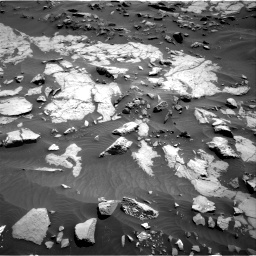 Nasa's Mars rover Curiosity acquired this image using its Right Navigation Camera on Sol 1383, at drive 418, site number 55