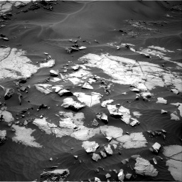 Nasa's Mars rover Curiosity acquired this image using its Right Navigation Camera on Sol 1383, at drive 424, site number 55