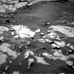 Nasa's Mars rover Curiosity acquired this image using its Right Navigation Camera on Sol 1383, at drive 430, site number 55
