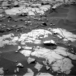 Nasa's Mars rover Curiosity acquired this image using its Right Navigation Camera on Sol 1383, at drive 442, site number 55