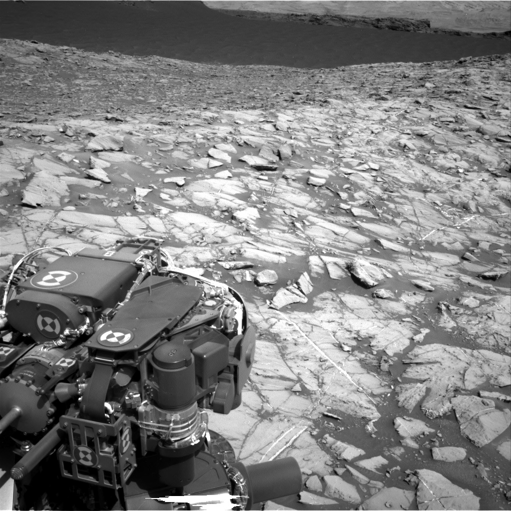 Nasa's Mars rover Curiosity acquired this image using its Right Navigation Camera on Sol 1383, at drive 538, site number 55