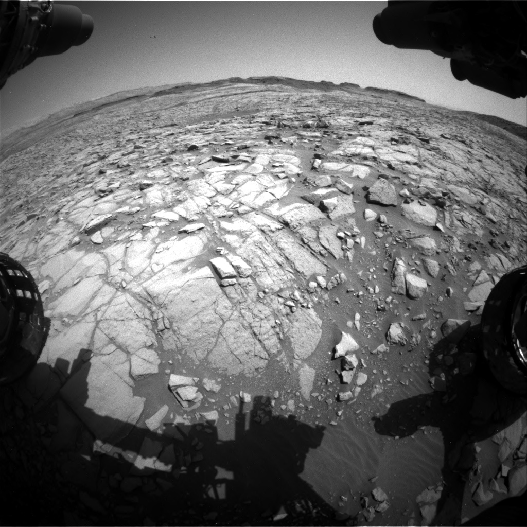 Nasa's Mars rover Curiosity acquired this image using its Front Hazard Avoidance Camera (Front Hazcam) on Sol 1384, at drive 940, site number 55