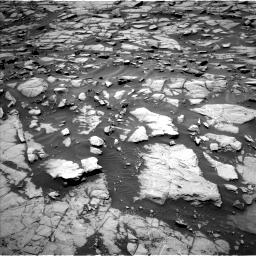 Nasa's Mars rover Curiosity acquired this image using its Left Navigation Camera on Sol 1384, at drive 598, site number 55