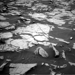 Nasa's Mars rover Curiosity acquired this image using its Left Navigation Camera on Sol 1384, at drive 730, site number 55